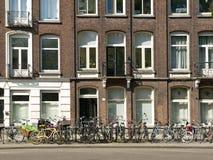 зодчество amsterdam типичное Стоковое Изображение