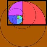 Золотая диаграмма коэффициента на текстурированной предпосылке sunray Стоковое Фото