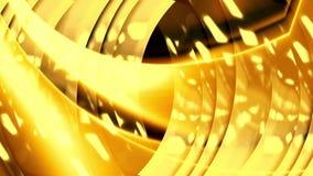 Золотая желтая moving предпосылка видеоматериал