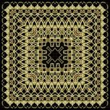 Золотая картина орнамента на черной предпосылке стоковое изображение rf