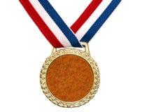 золотая медаль 2 глянцеватая Стоковые Фото