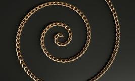 Золотая металлическая спираль иллюстрация вектора