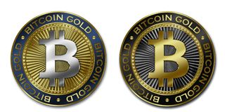Золотая монетка Cryptocurrency BITCOIN Стоковое Фото
