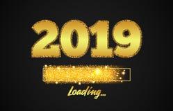 Золотая нагружая Адвокатура показывая прогресс почти достигая Новый Год бесплатная иллюстрация