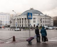 Золотая осень в Минске, Беларусь стоковая фотография