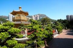 Золотая пагода в саде Nan Lian, Kowloon Стоковое Фото