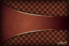 Золотая предпосылка Брауна роскошная элегантная иллюстрация вектора