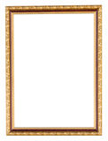 Золотая рамка на изолированной белизне стоковые фото