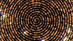 Золотая сияющая спиральная фантазия иллюстрация вектора