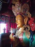 Золотая скульптура Будды в Leh, Ladahk, Индии стоковое фото