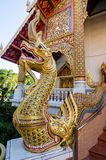 золотая скульптура naga украшает с stainglasses Стоковые Фотографии RF