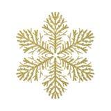 Золотая снежинка яркого блеска стоковое изображение