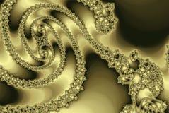 Золотая спираль фрактали, роскошная роза пастели Стоковые Фотографии RF