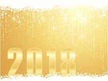 Золотая счастливая предпосылка 2018 Нового Года бесплатная иллюстрация