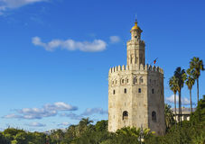 Золотистая башня Стоковое Фото