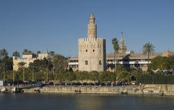 золотистая башня seville Стоковое Фото