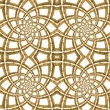 Золотистая безшовная картина Стоковые Изображения