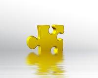 золотистая вода головоломки части Стоковое Изображение RF