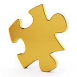 золотистая головоломка одиночная Стоковая Фотография RF