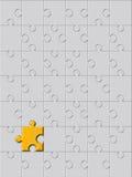 золотистая головоломка иллюстрация вектора