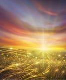 золотистая долина стоковая фотография rf