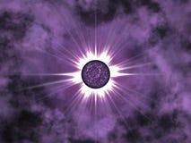 золотистая звезда космоса Стоковая Фотография