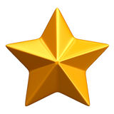 золотистая звезда Стоковое Изображение RF