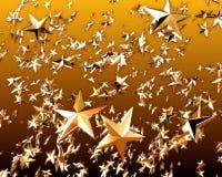 золотистая звезда 3 стоковое фото
