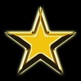 золотистая звезда Стоковая Фотография