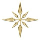 золотистая звезда Стоковые Изображения