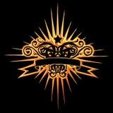 золотистая звезда Стоковая Фотография RF