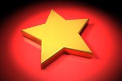 золотистая звезда 3d Стоковое Изображение