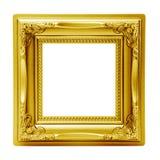 Золотистая изолированная картинная рамка Стоковое Изображение