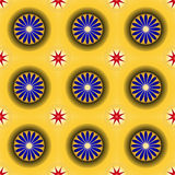 золотистая картина безшовная Стоковые Изображения RF