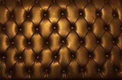 Золотистая кожа роскошной мебели Стоковые Изображения