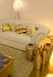 золотистая комната Стоковое Фото