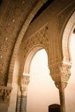 Золотистая комната alhambra Стоковое Фото