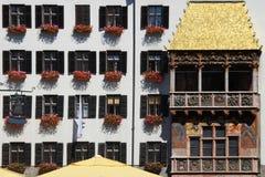 золотистая крыша innsbruck стоковое фото rf
