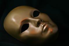 золотистая маска Стоковые Фотографии RF