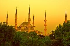 золотистая мечеть стоковые изображения rf