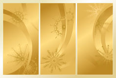 Золотистая морозная картина Стоковые Изображения