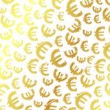 Золотистая предпосылка евро Стоковые Фото