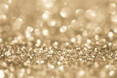 Золотистая предпосылка яркия блеска Стоковое Изображение RF
