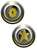 золотистая сеть iconset Стоковая Фотография RF