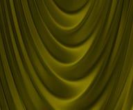 Золотистая сложенная ткань Стоковая Фотография RF