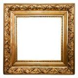 Золотистая старая изолированная рамка Стоковое Фото