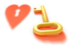 золотистая тень ключа сердца бесплатная иллюстрация