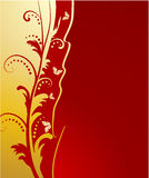 золотистое бабочек предпосылки флористическое Стоковые Фотографии RF