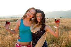 золотистое вино часа Стоковое Изображение