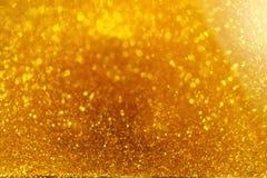 золотистое время песка Стоковые Изображения